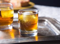 Old Fashioned cocktails, made with bourbon or rye, are easy to making a big batch in advance of a party. They're perfect for fall or winter gatherings.