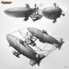 PURE STEAM - War Zeppelin by *47ness on deviantART