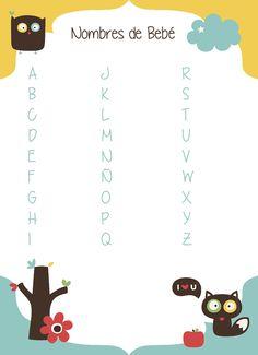 #juego babyshower, nombres de bebe #babyshower's play
