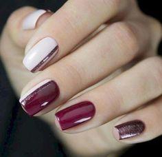 🔼 Opdage vores semi-permanente neglelak for en perfekt manikyr i rec . Winter Nail Designs, Winter Nail Art, Cool Nail Designs, Winter Nails, Classic Nails, Nails 2018, Nagel Gel, Nail Decorations, Holiday Nails
