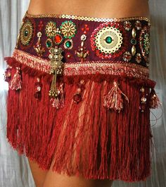 Perfectly Beautiful Belly Dance belt beaded sequined by PoisonBabe, $135.00