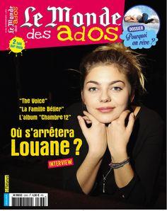 "Le Monde des Ados n°336 - 25 février 2015 : "" Où s'arrêtera Louane ? "" #presse #ados #magazine #musique #Louane"