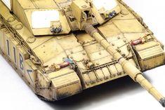 """British MBT """"Challenger 2"""" desertised — Каропка.ру — стендовые модели, военная миниатюра"""