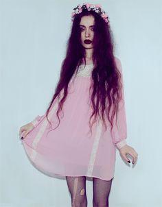 That hair/ that dress/ that flower crown --Mmm