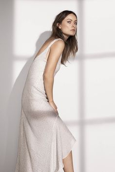 HM Conscious Exclusive Sustainable Fashion Olivia Wilde Dress in recycled polyester 2