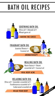 DIY HOMEMADE BATH OIL RECIPES FOR SMOOTHER, HEALTHY SKIN