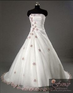 Gorgeous flowing Wedding gown with purple flowers.  My all time favorite!