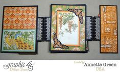 Gorgeous pages in this Artisan Style gatefold album by Annette #graphic45