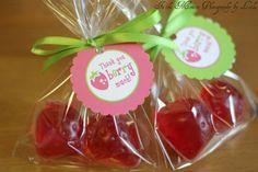 Strawberry Shortcake Birthday - Printable Thank You Party Tags