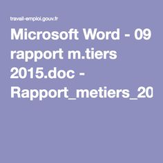Microsoft Word - 09 rapport m.tiers 2015.doc - Rapport_metiers_2015.pdf