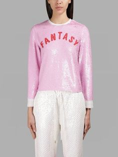 ASHISH ASHISH WOMEN'S PINK FANTASY SEQUIN LONG SLEEVES TOP. #ashish #cloth #tops