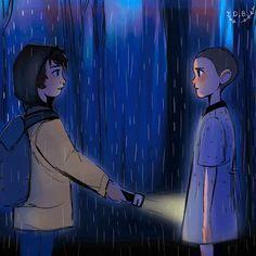 Ahi fue donde comenzó una hermosa historia de Mike y Eleven
