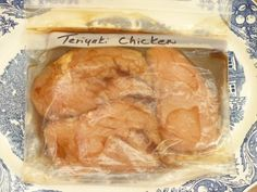"Freezer chicken ""dump"" recipes.  Freeze in a bag, then dump into a pan and cook in the oven.  Adjust cooking times if thawed or frozen when dumped!"