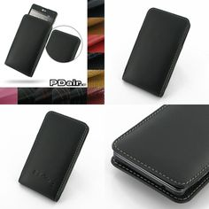 PDair Leather Case for LG Optimus G E971 E973 E975 LS970 - Vertical Pouch Type (Black)