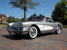 1959 Chevrolet Corvette- my favorite gen. Chevrolet Corvette, 1961 Corvette, Pontiac Gto, Us Cars, Sport Cars, Jaguar, Peugeot, Lamborghini, Ferrari 458