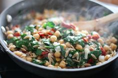 Skillet Orzo with Spinach, Chickpea and Lemon   aggieskitchen.com