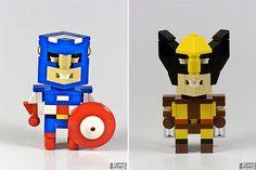 Cube Dude : Les personnages célèbres en lego d'Angus McLane   Le Blog de Bango