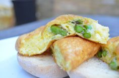 A light and healthy this souffle style Asparagus and cheese omelette is perfect for summer.
