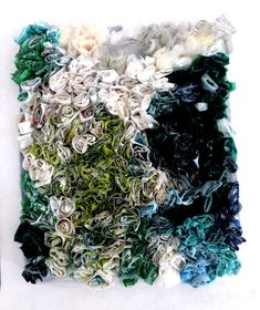 18 plastic bags, sewn together with conciliatory gestures. Ines Seidel