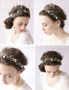 Ручной свадебный аксессуары для волос свадьбы тиару свадебный венок оголовье Сен женские европейские и американские ленты короткие волосы аксессуары для волос корейский Свадьба - Taobao