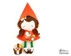 Little Red Sewing Pattern - Dolls And Daydreams