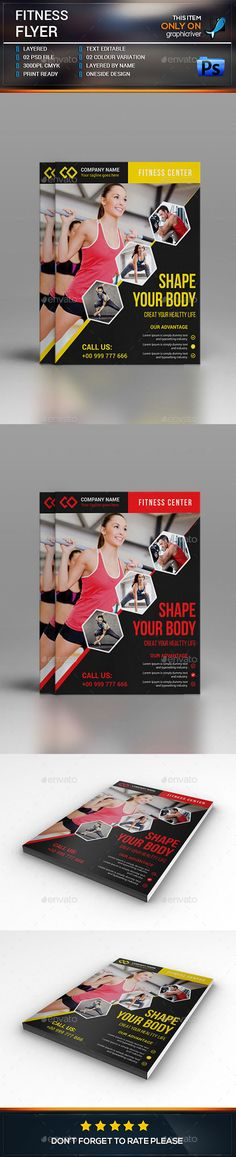 #Fitness #Flyer #Template - Sports Events Download here: https://graphicriver.net/item/fitness-flyer-template/15236583?ref=alena994