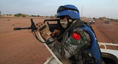 Chinese peacekeeper in Mali [ 650 355 ] People's Liberation Army, Airsoft, Baby Strollers, Chinese, Military, Children, Countries, Modern, Inspiration