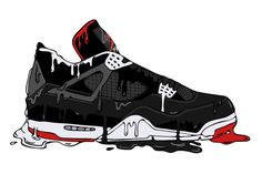 Art by 🎃 🎱 Sneakers Wallpaper, Shoes Wallpaper, Nike Wallpaper, Sneakers Sketch, Sneakers Box, Dope Cartoon Art, Dope Cartoons, Jordan 4, Zapatillas Jordan Retro