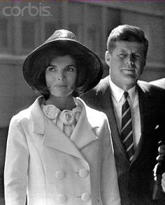 March 27, 1963 - Washington, DC - President John F. Kennedy and First Lady Jacqueline Kennedy at Union Station following the departure of King Hassan of Morocco.