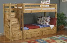 Blueprints For Bunk Beds With Stairs, Storage…