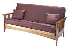 Boston Full Size Cherry Oak Futon Set. Will hold up for every day use