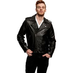 Mason & Cooper Bane Leather Jacket (250 CAD) ❤ liked on Polyvore featuring men's fashion, men's clothing, men's outerwear, men's jackets, black, mens jackets, mens motorcycle jacket, mens slim jacket, mens fur lined leather jacket and mens leather motorcycle jacket