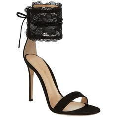 Gianvito Rossi Dauphine Sandal ($875) ❤ liked on Polyvore featuring shoes, sandals, stiletto heel shoes, gianvito rossi shoes, tie sandals, stilettos shoes and gianvito rossi sandals