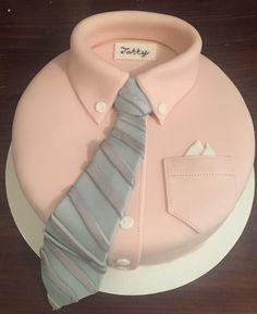 Shirt and tie cake, father birthday cake, pink shirt
