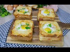 Toast con uovo ad occhio di bue: la versione super gustosa da provare subito! - YouTube