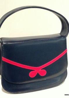sac vintage 1960 bleu marine.JPG