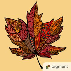 Leaf Drawing, Mandala Drawing, Zentangle Drawings, Zentangle Patterns, Autumn Crafts, Autumn Art, Landscape Art Quilts, African Art Paintings, Fall Art Projects