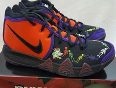 cab2b4026c8d Nike Kyrie Irving 4 IV Day Of The Dead DOTD TV PE 1 Team Orange CI0278-800  Sz 8  Nike  BasketballShoes