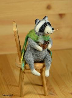 Мастер-класс: очаровательный войлочной енотик с чаем - Ярмарка Мастеров - ручная работа, handmade