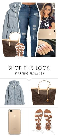 """""""'ill be outside what you sayin' quit taking pictures i ain't playin'"""" by savagebxtch24 ❤ liked on Polyvore featuring H&M, MICHAEL Michael Kors and Billabong"""