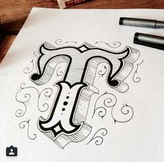 Inspiration hand lettering avec tobias saul fonts and stuff Tattoo Lettering Fonts, Types Of Lettering, Lettering Styles, Brush Lettering, Lettering Design, Lettering Ideas, Hand Lettering Art, Calligraphy Letters, Typography Letters