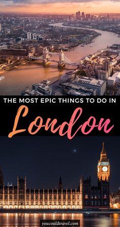 Best 19 things to do in London (you are going to absolutely adore) - Home to 4 world heritage sites, founded by the Romans and today's one of the most important economic hubs in the world, London is a diverse city, known for its art, culture and hipster neighbourhoods. Here are the best 19 things to do in London. #london #guide
