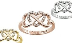 "Groupon - Sterling Silver ""I LOVE YOU"" Infinity Rings in [missing {{location}} value]. Groupon deal price: $11.99"