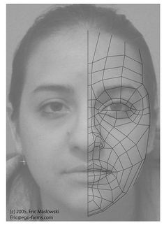 Example of good topology on a face model, image from;  wip.ego-farms.com/initiation_01.htm