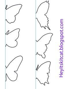 gabarit découpage de papillons