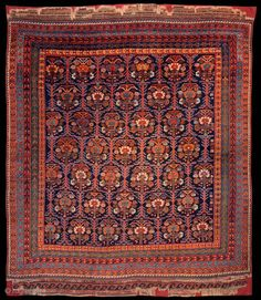 Ref 1446 Antique Afshar tribal rug circa 1880 or maybe earlier. x - 210 x In full unworn pile elaborate kelim end finishes have been conserved onto fabric. Persian Carpet, Persian Rug, Textile Prints, Textiles, Rugs On Carpet, Carpets, Tribal Rug, Kilim Rugs, Asian Art