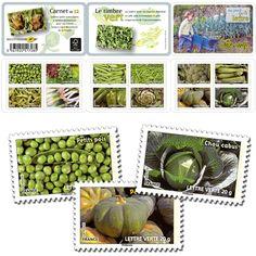Carnet - Des légumes pour une Lettre Verte - Beaux timbres - Envois plaisir - La Boutique La Poste