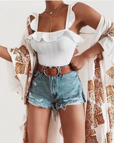 Cute Casual Modest Summer Outfit Ideas for Teens Girls for Women - Lindas ideas de trajes de verano para adolescentes, niñas o mujeres - www. outfits style summer teenage frauen sommer for teens outfits Modest Summer Outfits, Cute Casual Outfits, Outfits For Teens, Spring Outfits, Outfit Summer, Casual Boots, Casual Dresses, Men Casual, Casual Summer