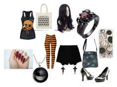 """""""Trick or Treat"""" by maddie-hatter23 ❤ liked on Polyvore featuring Casetify, Chicnova Fashion, Halloween and happy"""