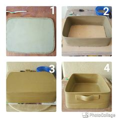The process of making a baking dish. Actually there are couple more stages. Next time...